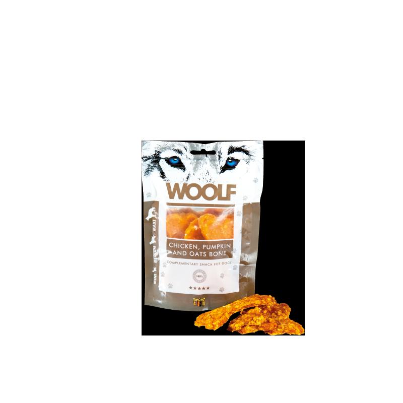 Woolf Osso di pollo con zucca e avena 100g snack cani