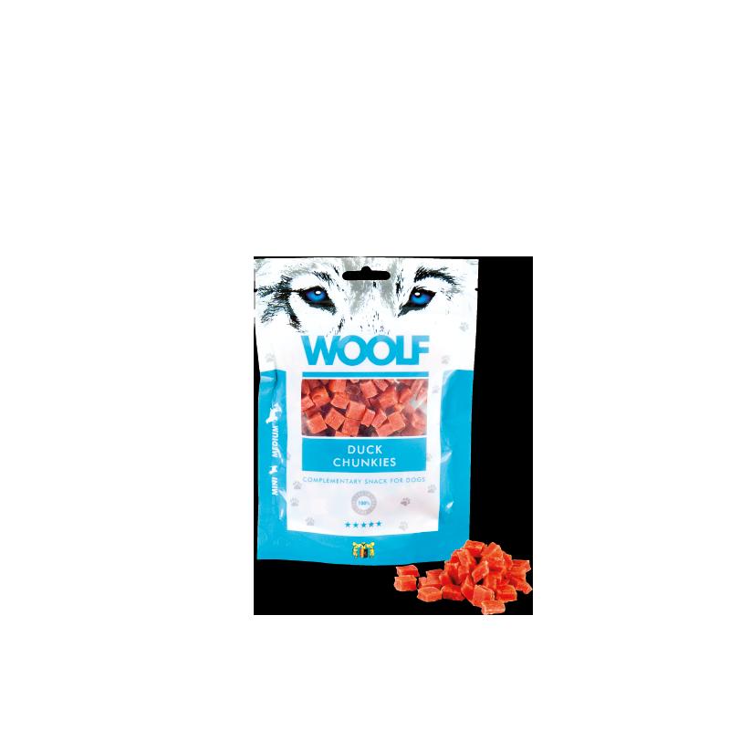 Woolf Bocconcini di Anatra 100g snack cani