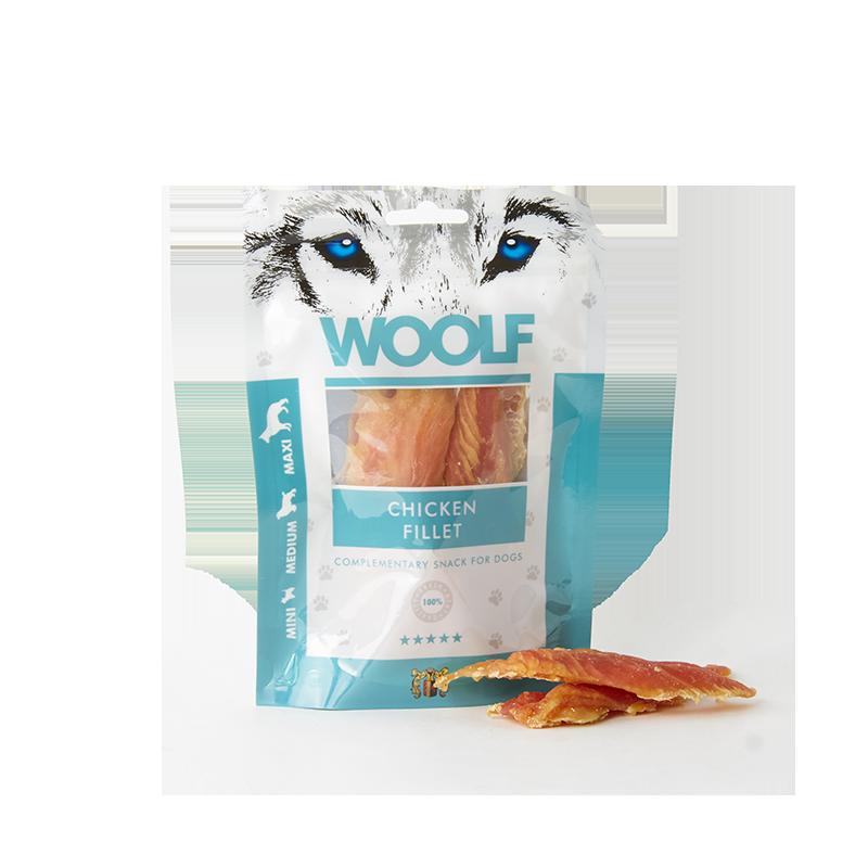 Woolf Filetto di petto di pollo 100g snack cani