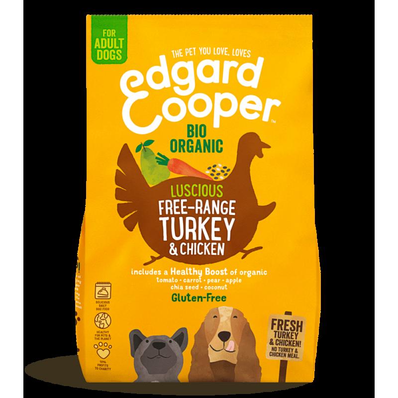 Edgard&Cooper Adult Tacchino e Pollo Biologici crocchette cane