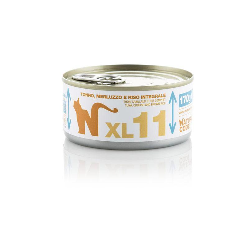 Natural Code XL 11 Tonno Merluzzo e riso 170g MULTIPACK 48 pezzi umido gatto