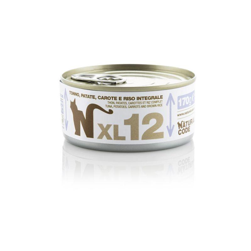 Natural Code XL 12 Tonno Patate Carote e riso 170g MULTIPACK 48 pezzi umido gatto