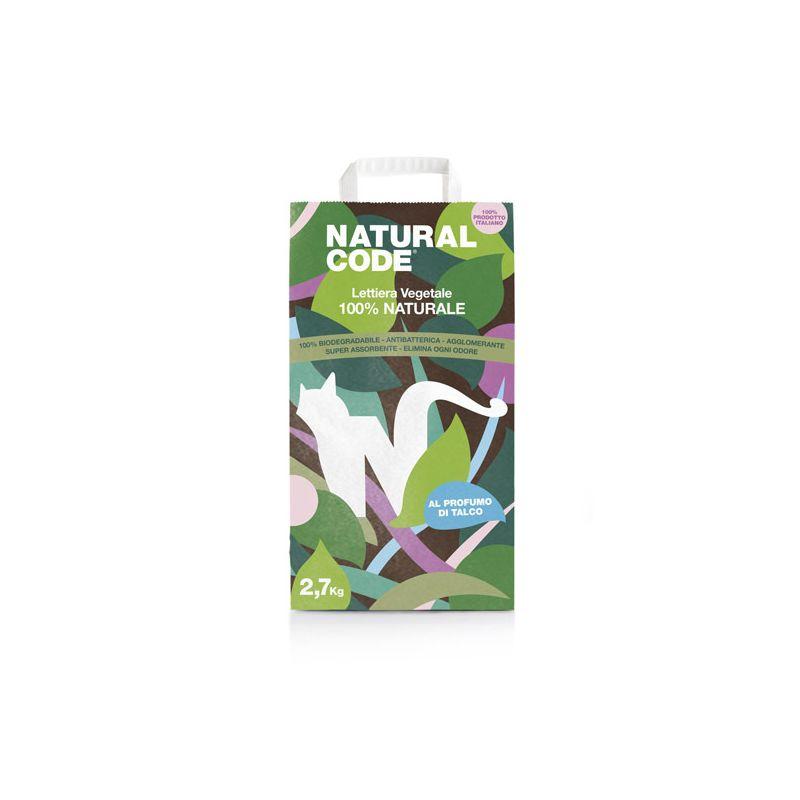 Natural Code Lettiera Vegetale Agglomerante 2,7kg al Talco