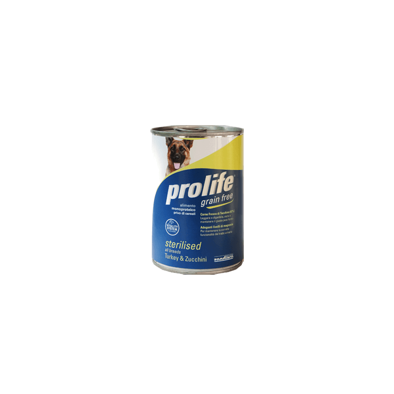 Prolife Dog Sterilised Turkey & Zucchini 400g umido