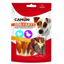 Camon BBQ Party Bistecche Pollo e Anatra 105g snack per cani