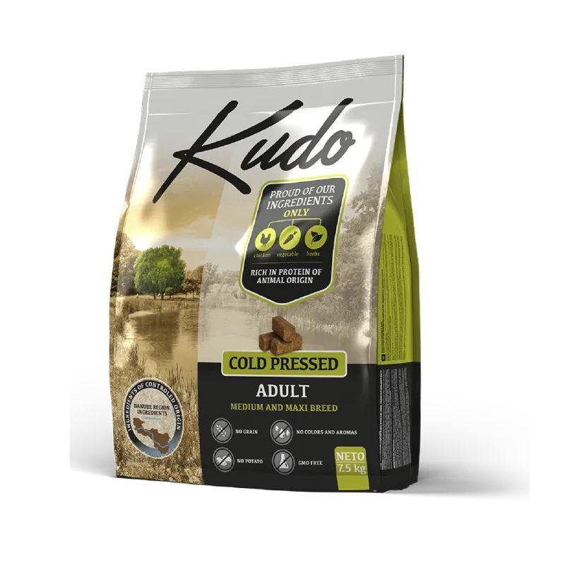Kudo Adult Pollo 7,5kg Medium Maxi grain free pressato a freddo per cani