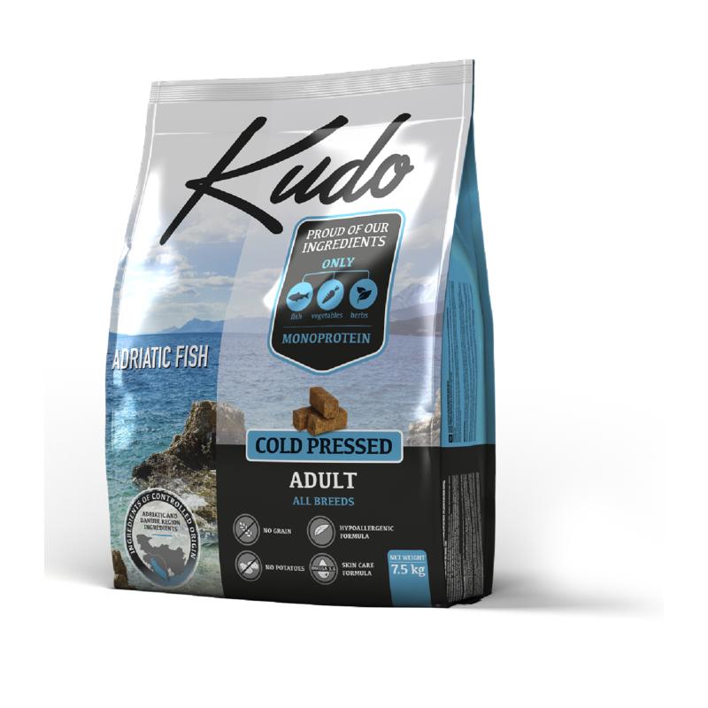 Kudo Adriatic Fish 7,5kg Adult all breeds grain free pressato a freddo