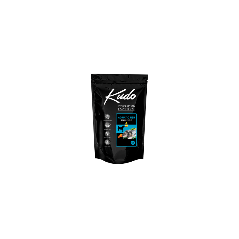 Kudo Light & Senior Adriatic Fish 12kg Medium Maxi pressato a freddo per cani