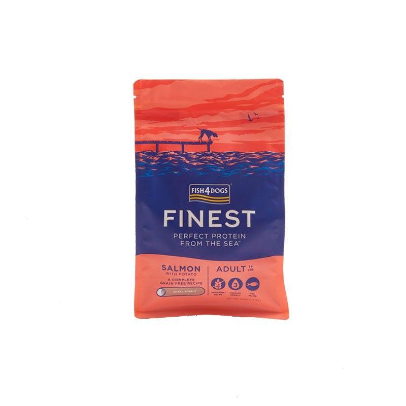 Fish4Dogs Finest Adult Salmon Small 6kg crocchette cane Grain Free