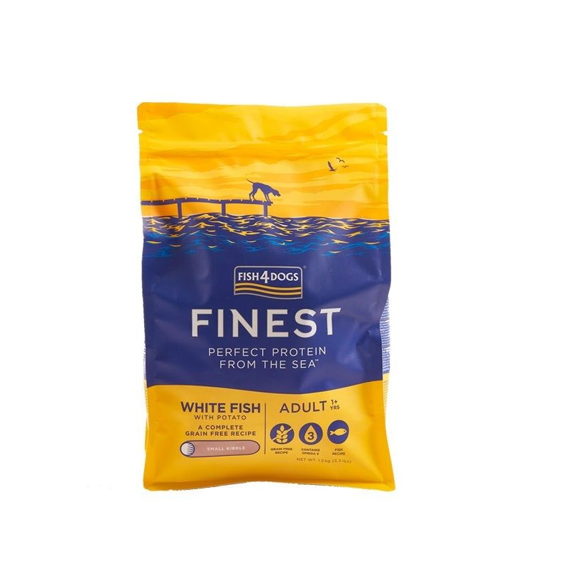 Fish4Dogs Finest Adult White Fish Small 1,5kg crocchette cane Grain Free