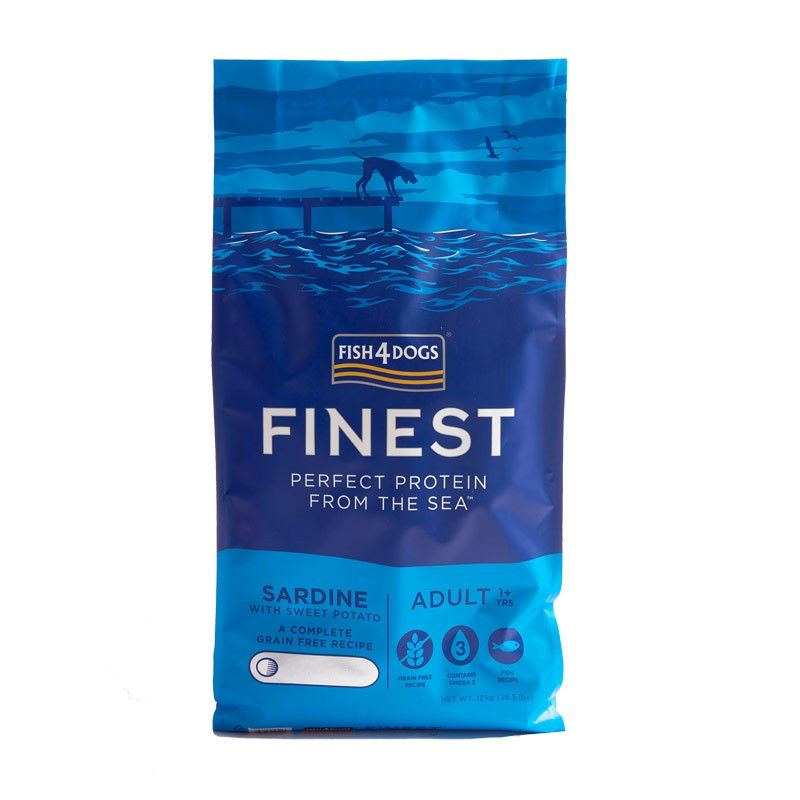 Fish4Dogs Finest Sardine 12kg Medium Large crocchette cane Grain Free