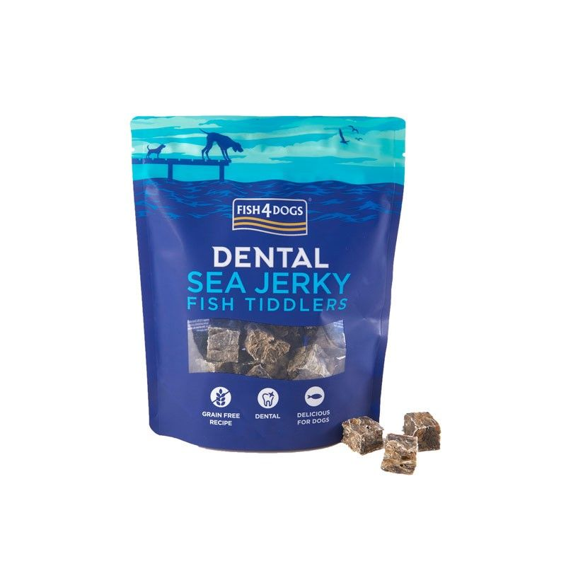 Fish4Dogs Dental Sea Jerky Fish Tiddlers 115g snack per cani