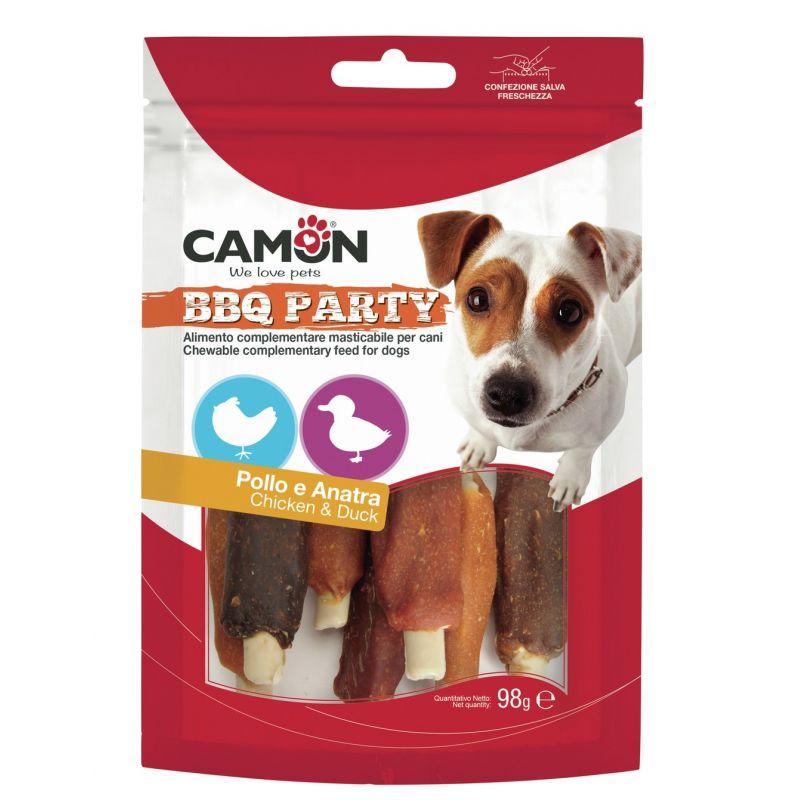 Camon BBQ Party Costine Pollo e Anatra Small 98g snack per cani
