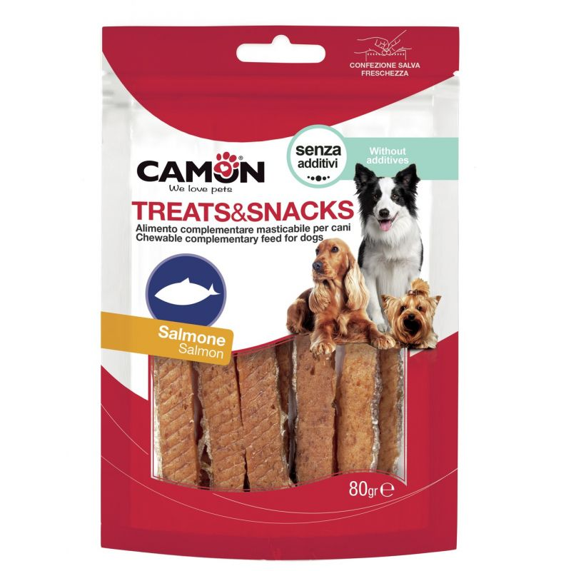 Camon Barrette al Salmone 80g snack per cani