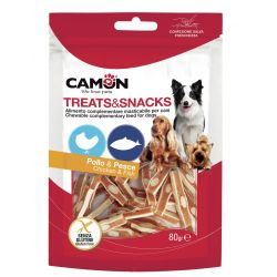 Camon Bocconcini Pollo, Pesce e Formaggio 80g snack per cani