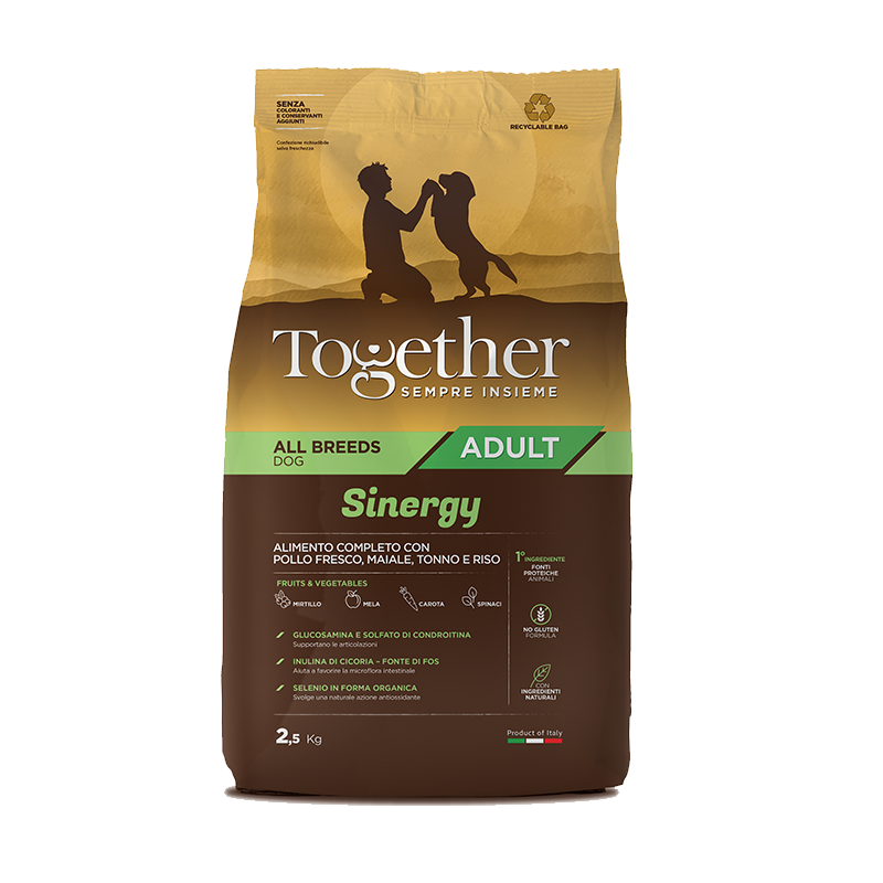 Together Sinergy Adult Pollo Maiale e Tonno all breeds crocchette cane