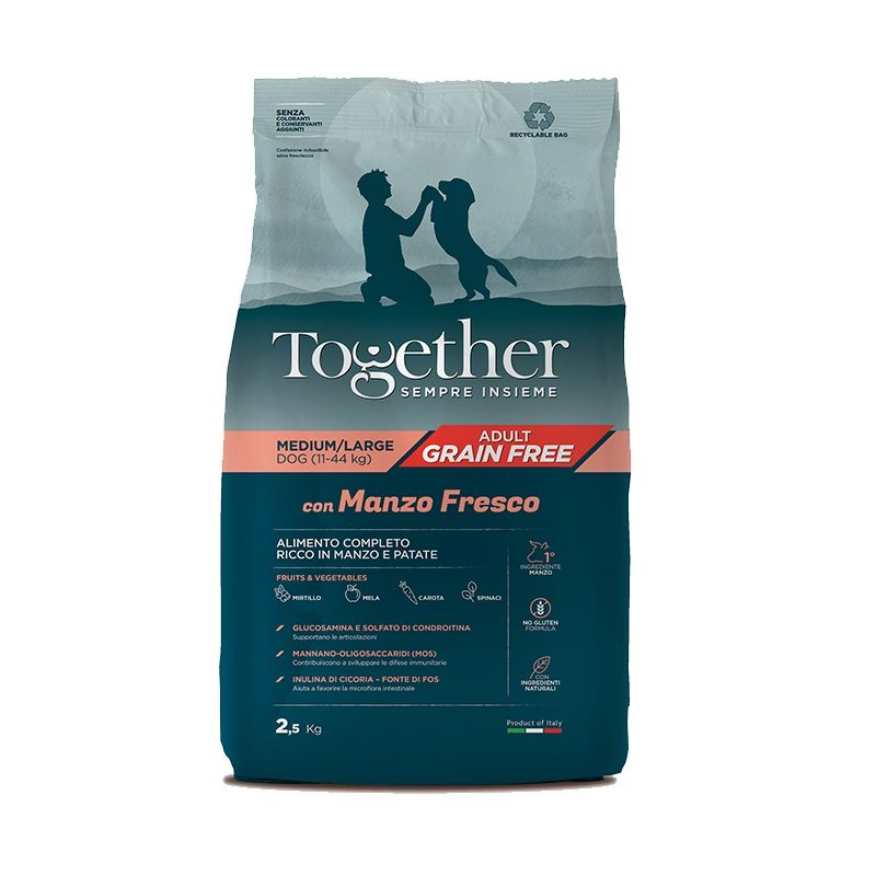 Together Manzo e Patate Medium Large crocchette cane grain free