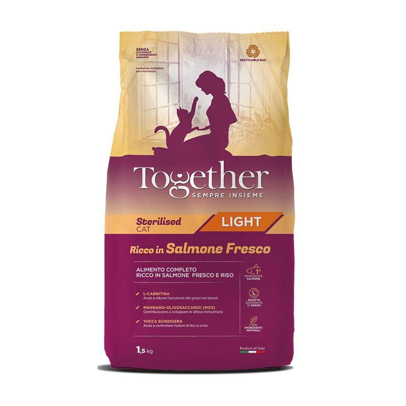 Together Light Sterilised Cat Salmone fresco e riso crocchette gatto