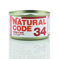 Natural Code 34 Tonno e Kiwi 85g umido gatto
