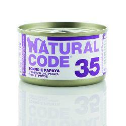 Natural Code 35 Tonno e Papaya 85g umido gatto