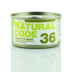Natural Code 36 Tonno e Tè Verde 85g umido gatto