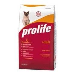 prolife Adult Cat Beef & Rice crocchette gatto