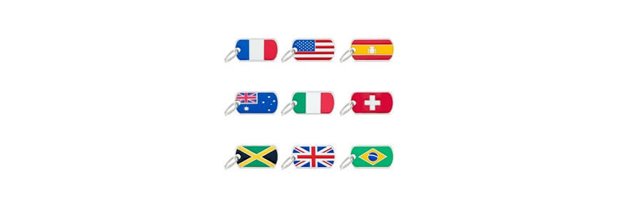 Medagliette Flags